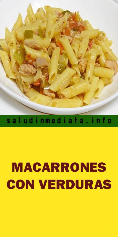 Macarrones Con Verduras Food Pasta Vegetables