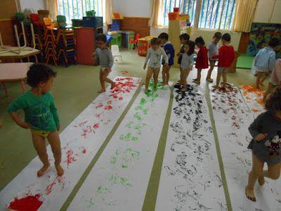 ESCUELA INFANTIL TALIN 2: Pintando con los pies   Arte   Pinterest ...