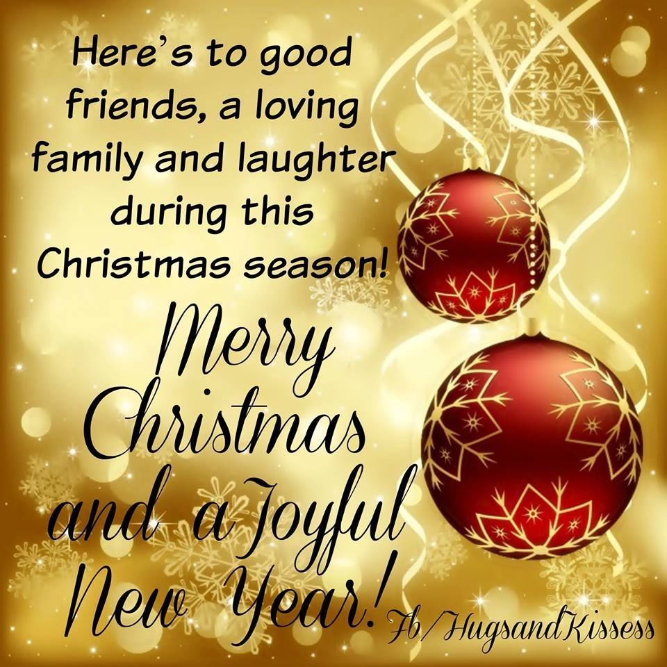 Heres to good friends loving family and laughter winter cards m4hsunfo