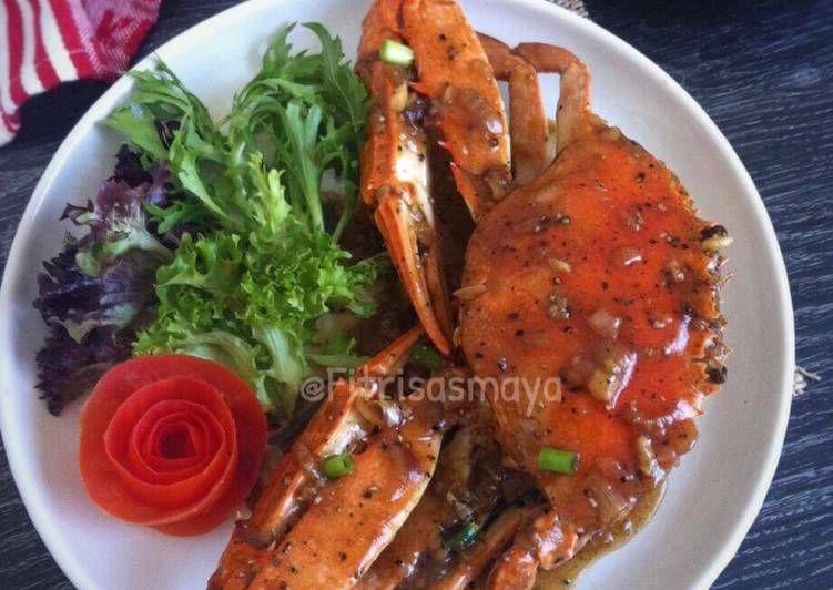 Resep Kepiting Saos Lada Hitam Oleh Fitri Sasmaya Resep Resep Kepiting Resep Seafood Resep