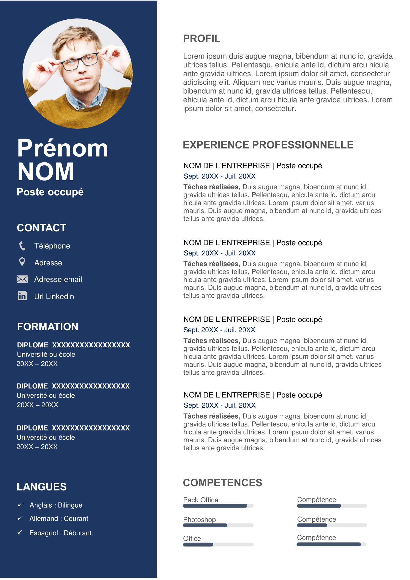 Exemple de CV Commercial Gratuit à Télécharger en 2020