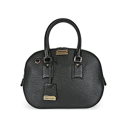 Burberry Small Orchard Leather Bowling Bag Black Handbag