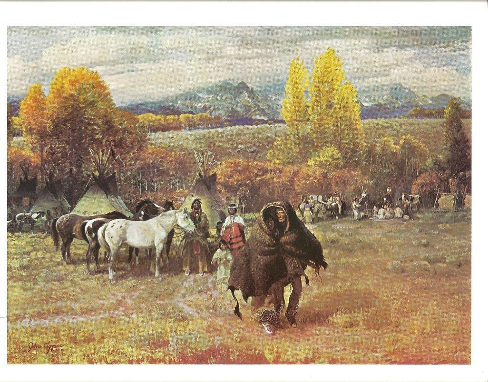 John Clymer Western Art THE TRAPPER TAKES A WIFE Cowboy Artists Art Print  #WesternFrontierArt