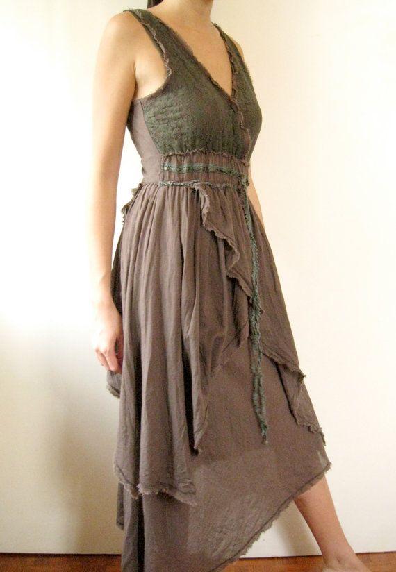 Summer Long Brown Cotton Dress par JessPlusCoutureSwim sur Etsy, $100.00