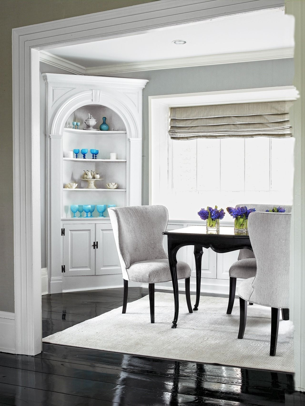 A Vintage Corner Gets A Modern Update Dining Room Corner Dining Furniture Makeover Corner Cabinet Dining Room