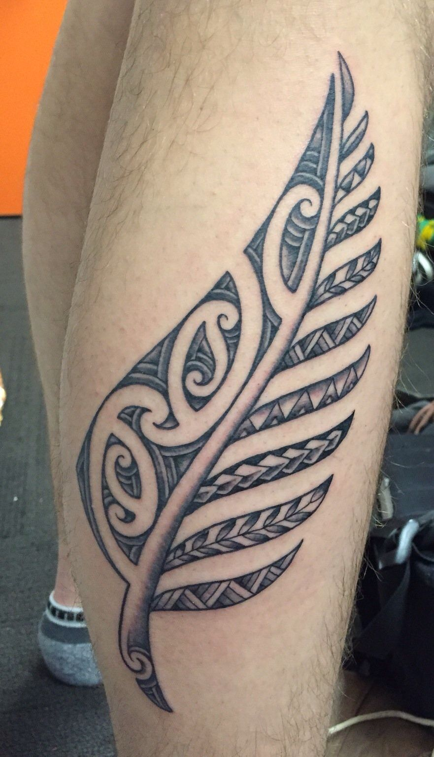 Body Art World Tattoos Maori Tattoo Art And Traditional: Maori Inspired Silver Fern
