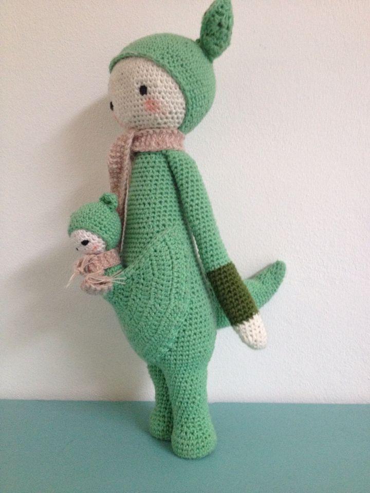 Kangaroo Kira En Baby Haken Gehaakt Haak Lalylala Patroon