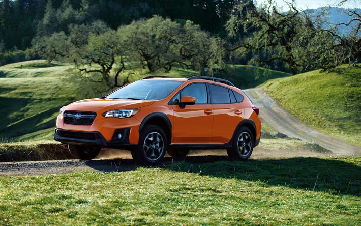 Lataa kuva 4k, Subaru Crosstrek, offroad, 2018 autoja, jakosuotimet, Subaru