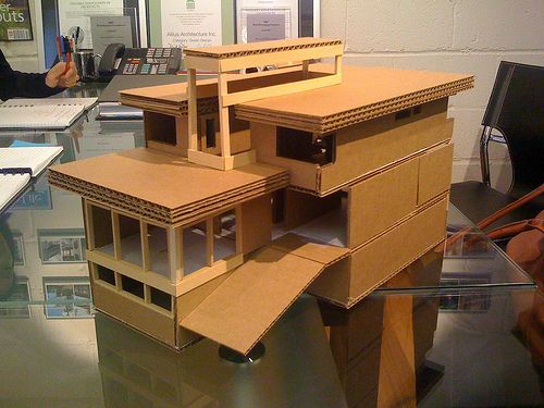 Cardboard Architectural Model Architechture Cardboard