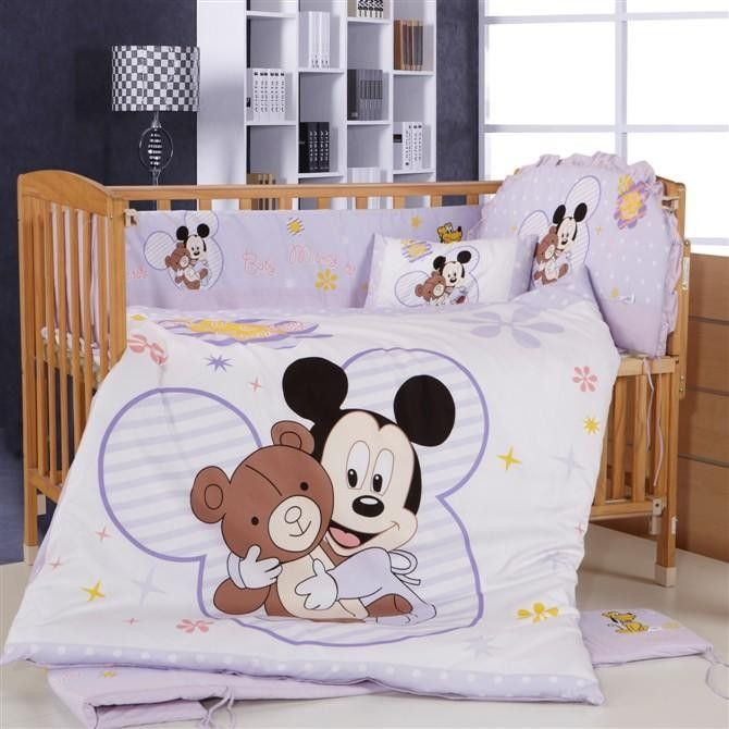 Mickey Mouse Baby Bedding Sets Crib For Kids Per Matress Duvet Pillow