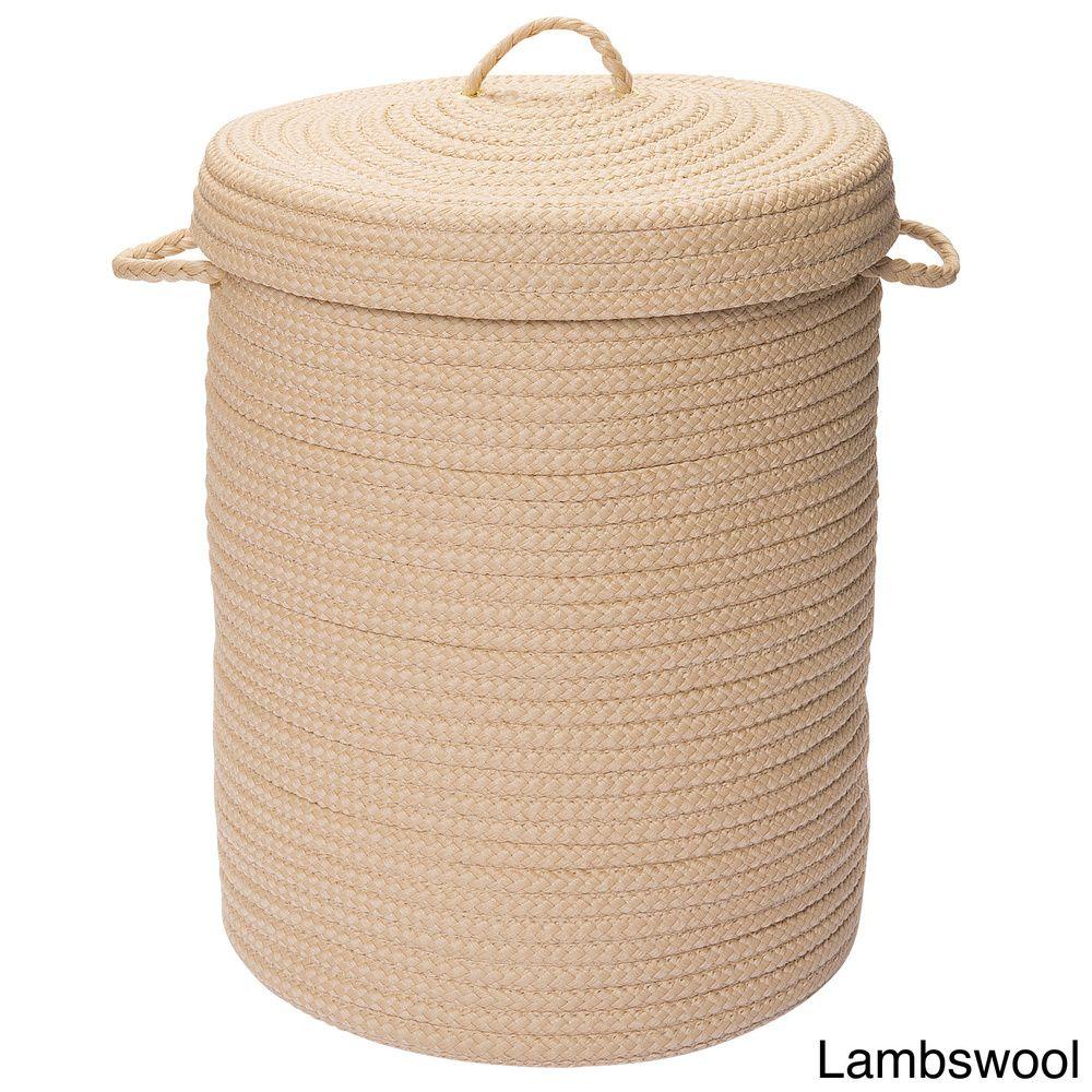Savvy Textured Portable Lidded Storage Hamper Laundry