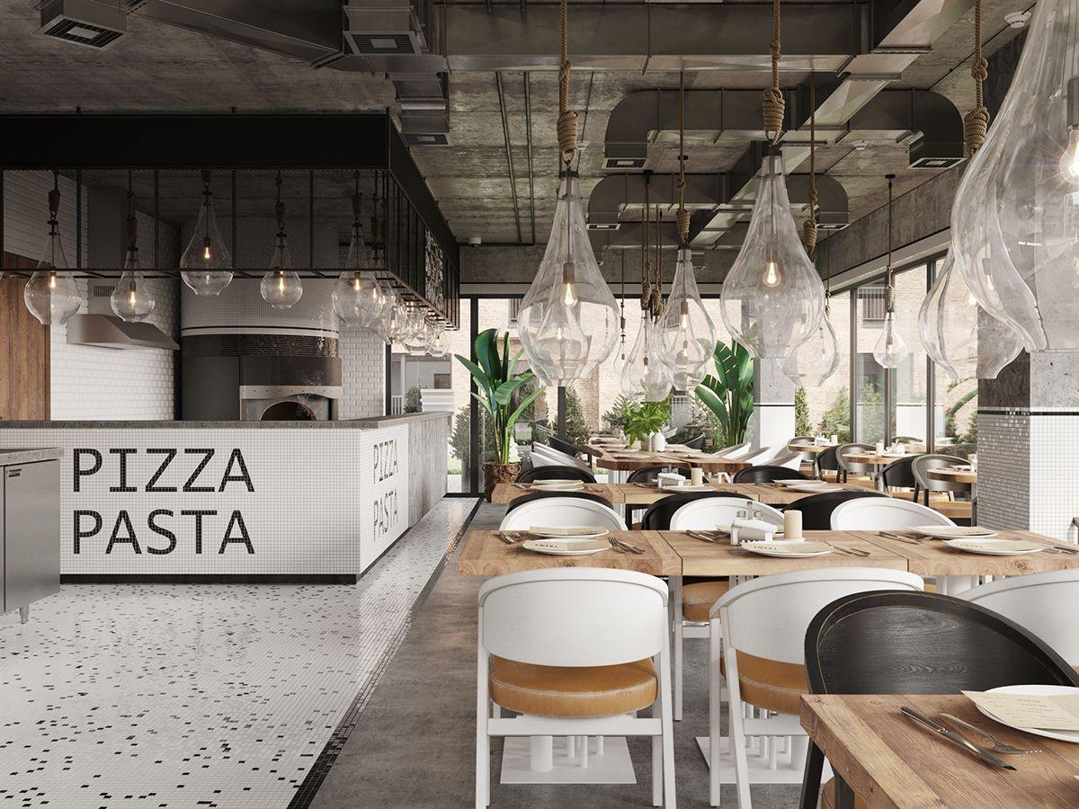 Consultez Ce Projet Behance Contemporary Pizza Pasta Restaurant In Almaty Kazakhst