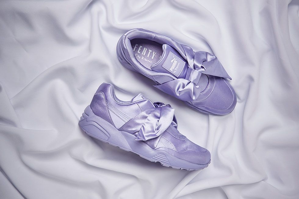 best deals on 38409 018e5 womens rihanna x puma fenty bow casual shoes