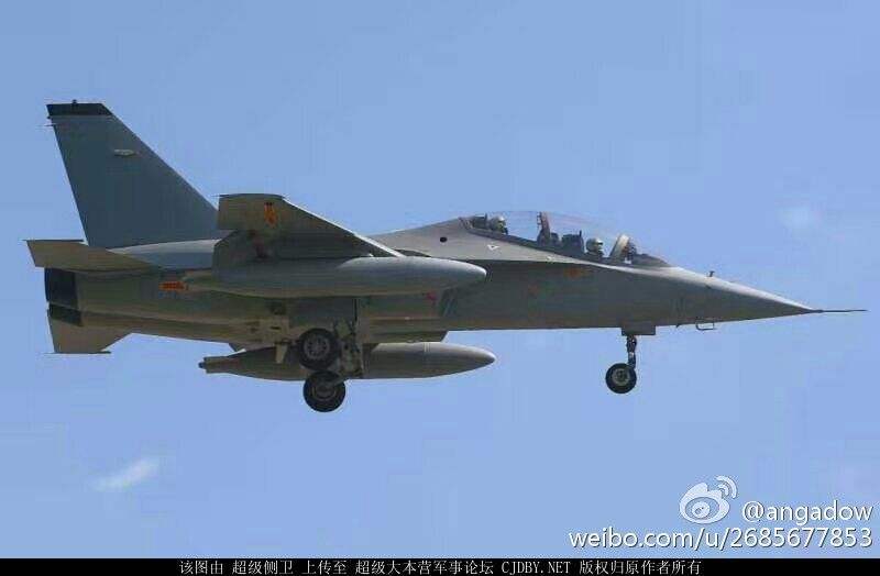 Chinese Air Force receives the JL-10 supersonic training and light