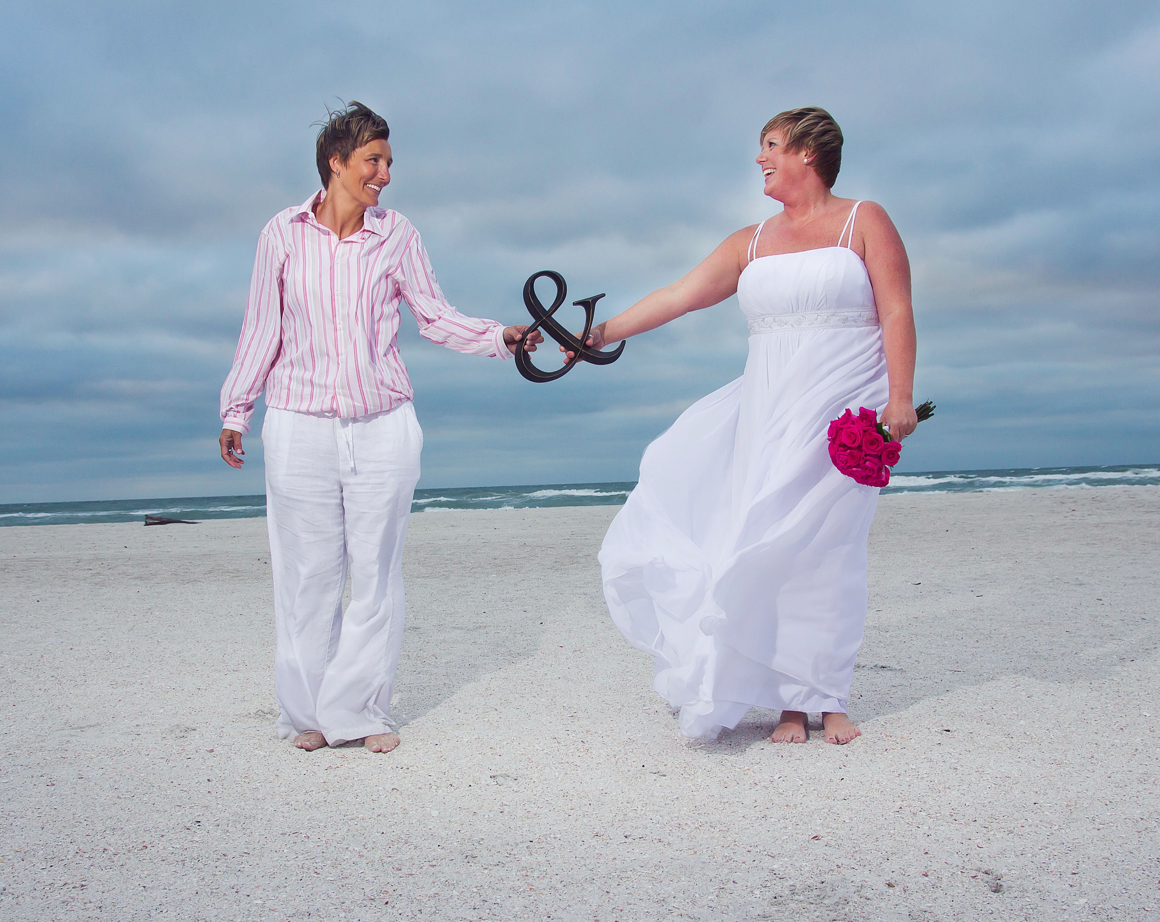Tanya & Michelle\'s Gay Beach Wedding & Commitment Ceremony ...