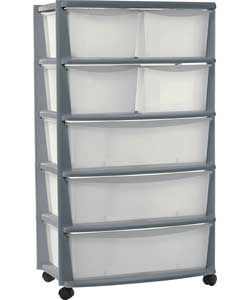 7 Drawer Plastic Wide Storage Chest Silver Plastic Storage Drawers Plastic Box Storage Storage
