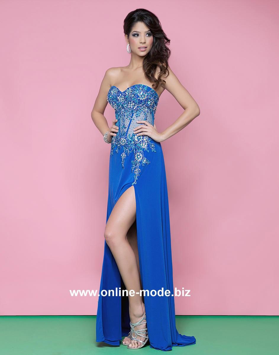 königin der nacht festliches abendkleid kleid in blau #kleid