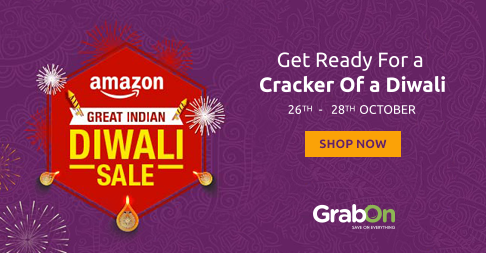 Hurry To Great Indian Diwali Sale. Amazon Offers Upto 90% Off & More - http://www.grabon.in/amazon-coupons/ #DiwaliOnAmazonDay1