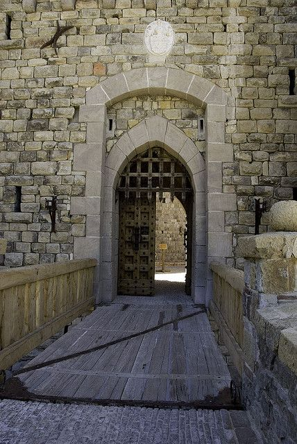 I'm thinking entry gate with drawbridge in a perimeter stone wall!