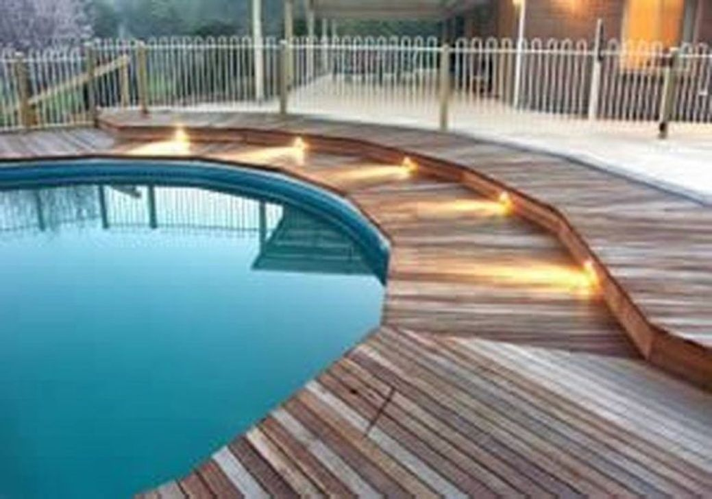 48 The Best Ground Pool Ideas You Never Seen Before Sweetyhomee Decks Around Pools Wood Pool Deck Pool Landscaping