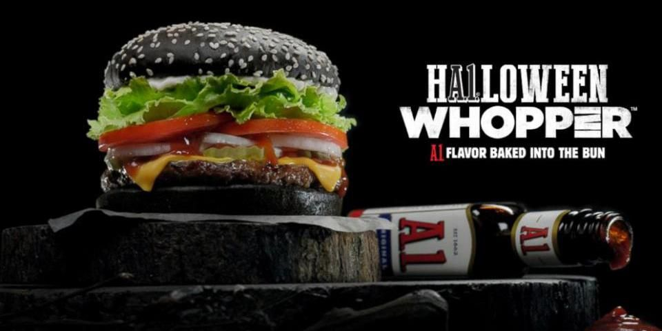 The Halloween Whopper at Burger King is... interesting: http://abcn.ws/1FxE4oc