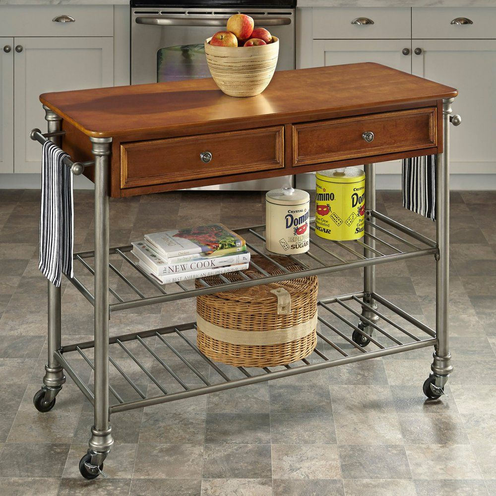 Portable Kitchen Islands u Carts Hayneedle Great idea