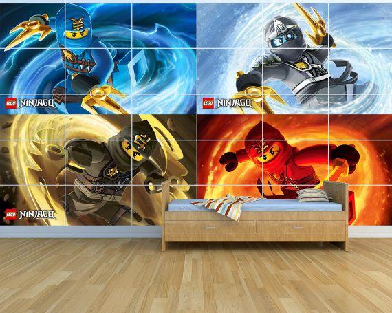Nieuwe Lego Ninjago NN03 Giant Wall Art Set 25 m x door a1posters ...