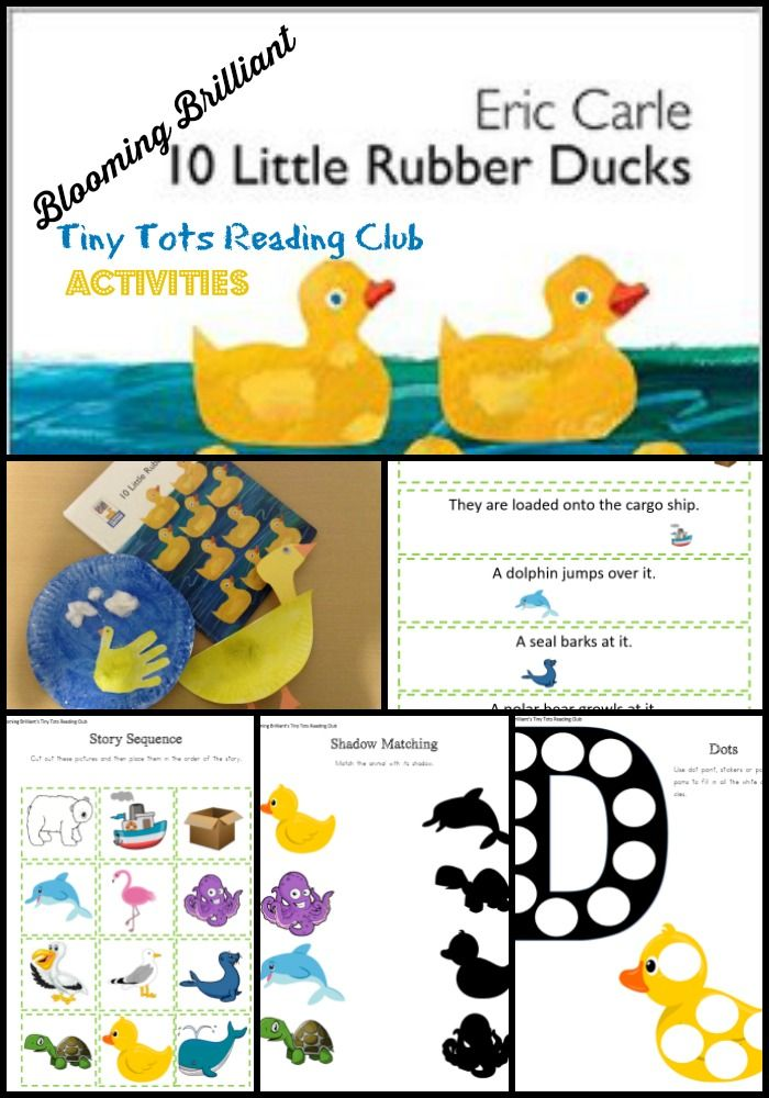 Goodnight Moon Tiny Tots Reading Club Blooming Brilliant Eric Carle Activities Duck Crafts Rubber Duck
