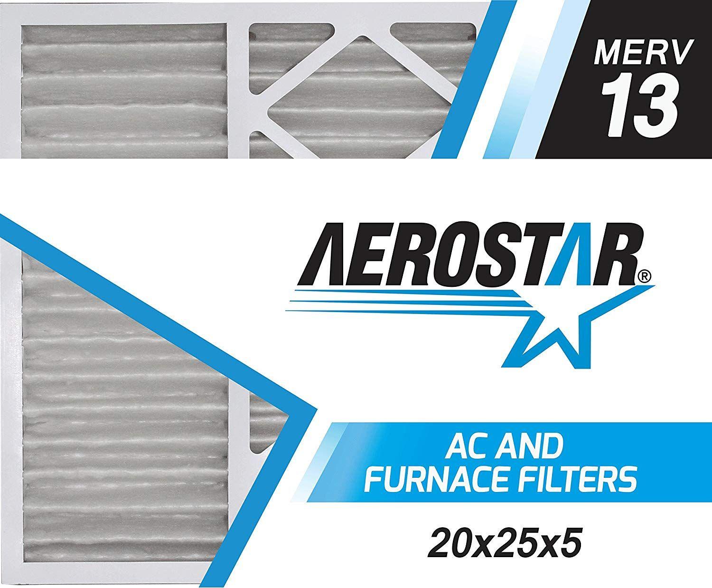 Aerostar 20x25x5 MERV 13 Honeywell Replacement Pleated Air