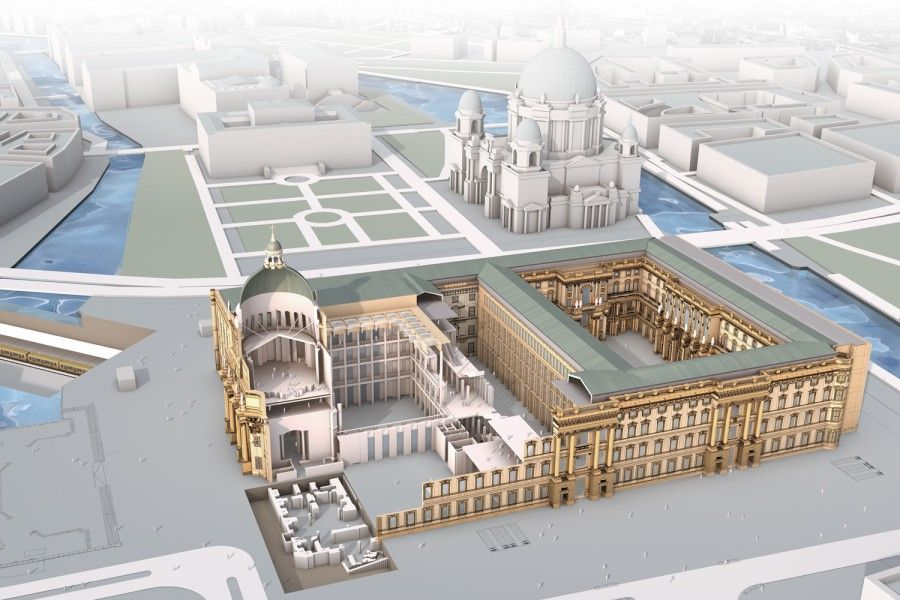 Berlin City Palace Reconstruction Humboldt Forum Skyscrapercity Humboldt Forum Berlin City India Architecture