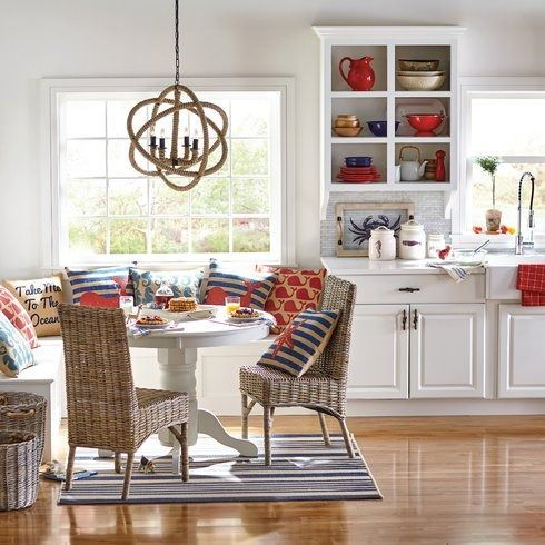 Build A Charming Breakfast Nook In The Kitchen Or Anchor Smaller Dining Room Ensemble With