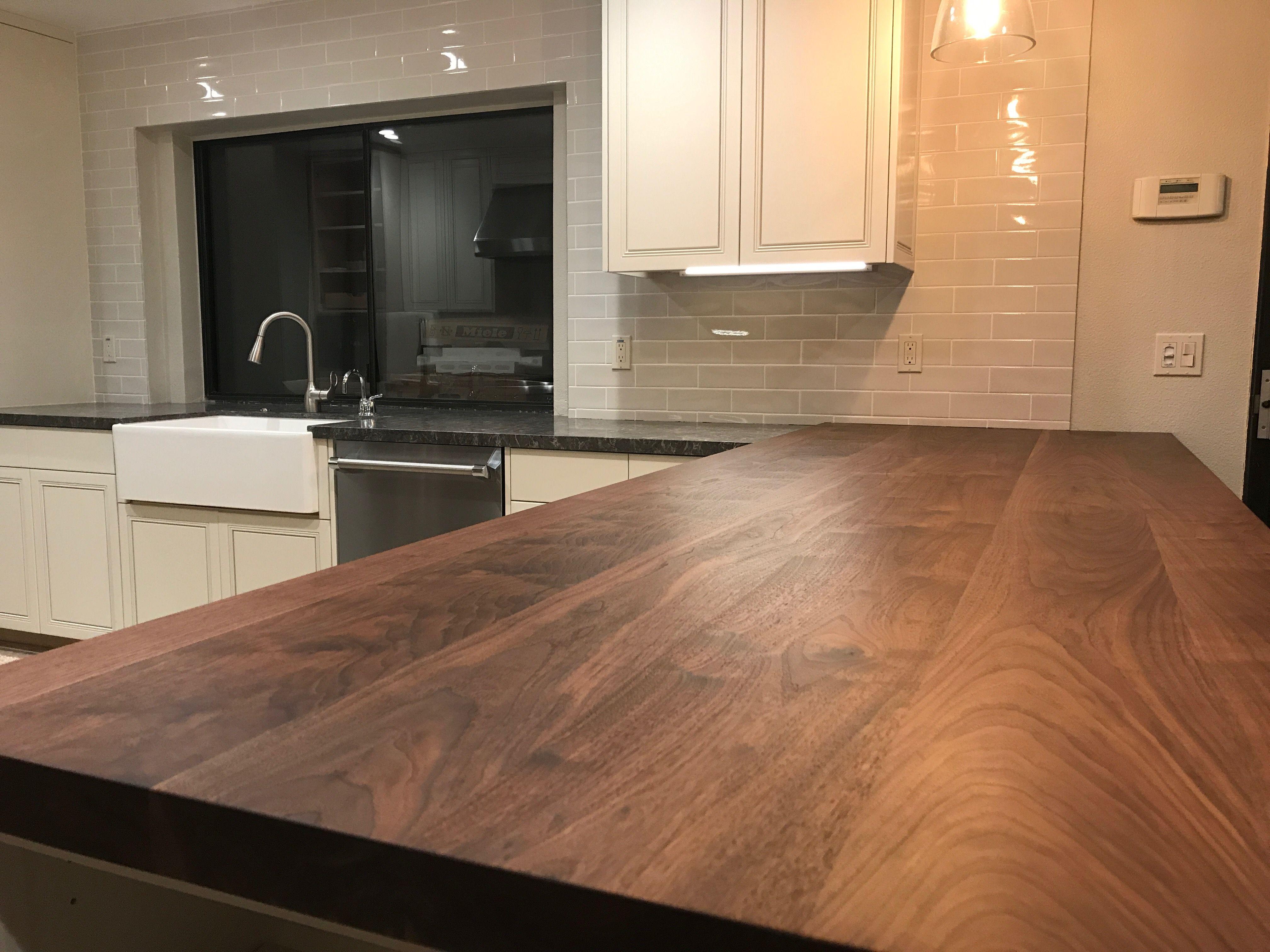 Kitchen Design With Wood Look Porcelain Tile Gray Quartz And