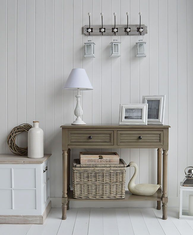 newport cottage french grey console table for country cottage hall rh pinterest com