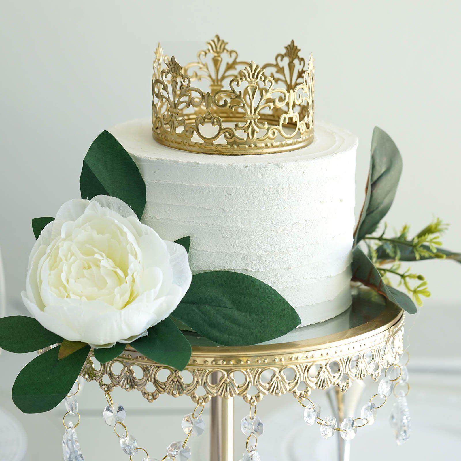 Gold metal princess crown cake topper in 2020 princess