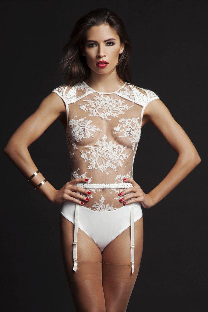 49fad09431 NADYA SHEER THONG BODY AND SUSPENDER BELT - FEATURING SWAROVSKI® CRYST –  Tatu Couture