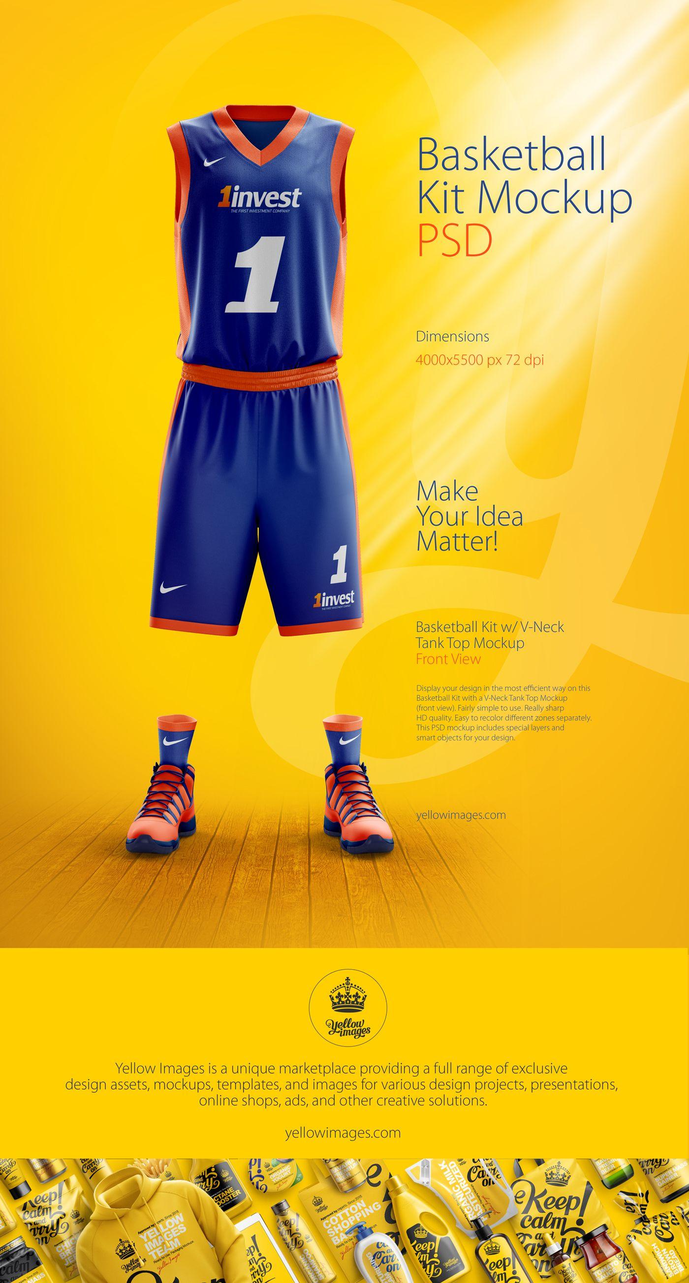 Download Basketball Kit Mockup Psd On Behance Basketball Kit Basketball Uniforms Design Basketball