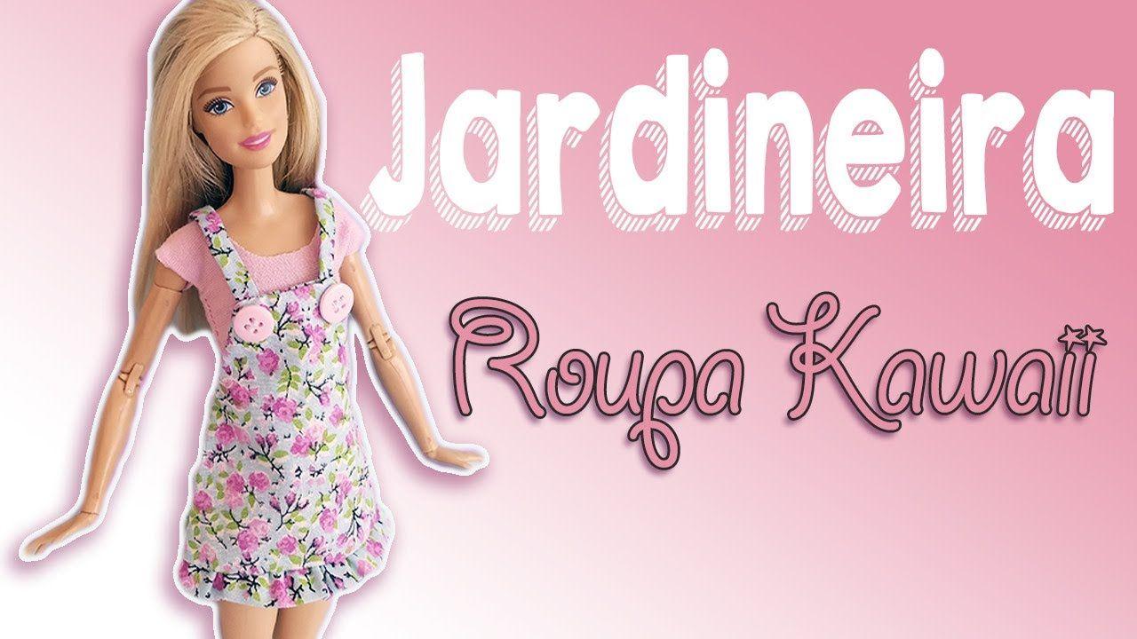 Jardineira | Como Fazer Roupa de Boneca Barbie | Cherry Miniaturas ...