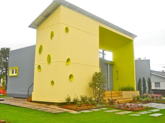 This is cool! >> Disaster-resilient prototype home completed in New Orleans >> Sunshower SSIP House, an eye-catching, dual-roofed prefab abode that's designed to withstand the gnarliest of weather events, is completed in the Lakewood section of New Orleans.