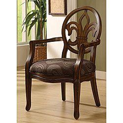 @Overstock.com   Fleur De Lis Chocolate Chair   The Classy Design Of This