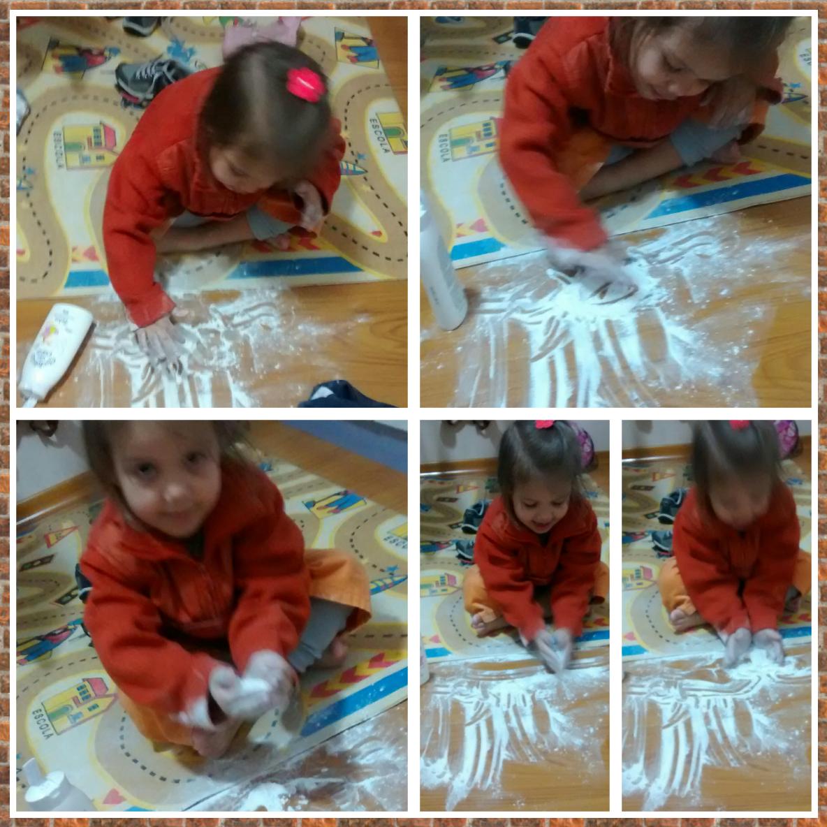 Tem uma sapeca fazendo arte com o Talco Cheirinho de Bebê! :)