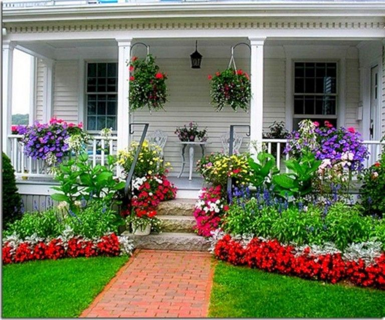 11 Amazing Front Porch Landscaping Ideas To Increase Your Home Beautiful Frontporch Landscaping Landscapi Porch Landscaping Front Yard Landscaping Backyard