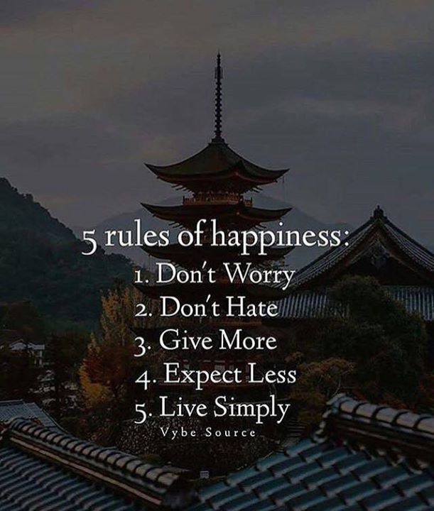 Inspirational Positive Quotes :5 rules of happiness..