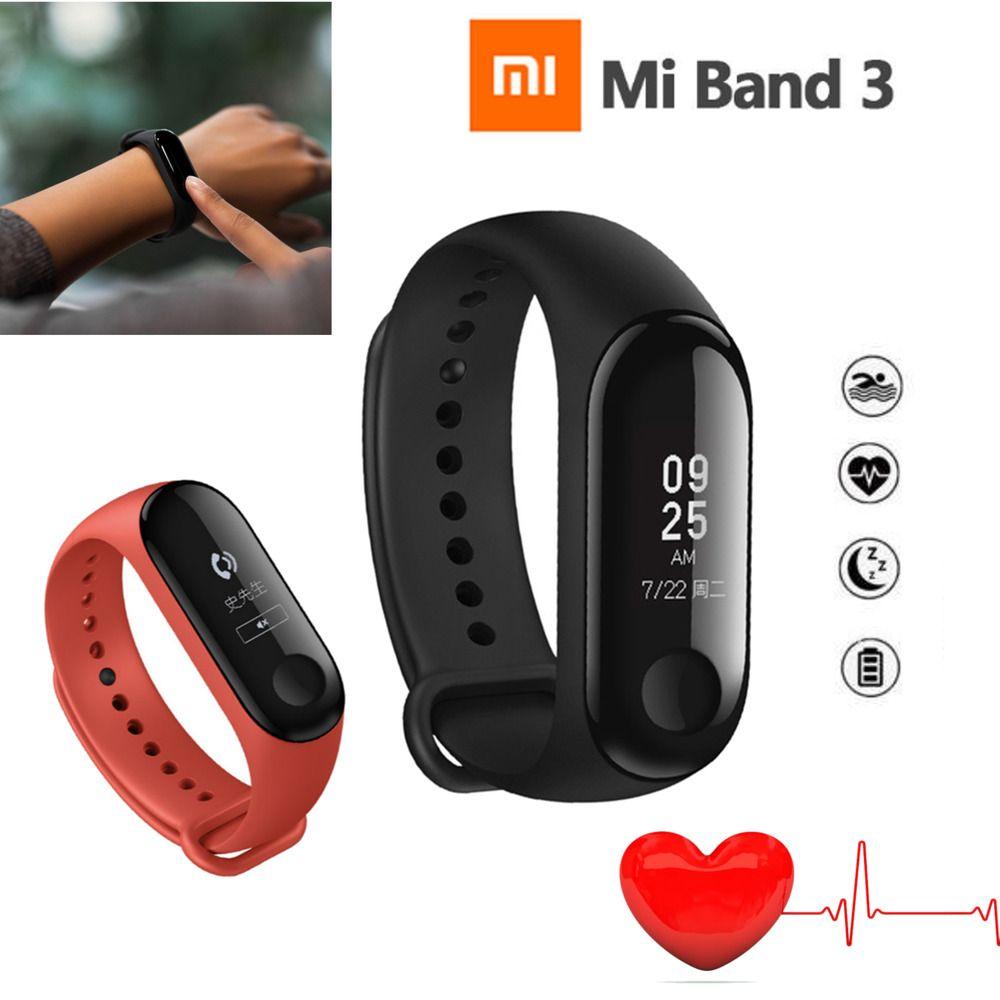 Original Xiaomi Mi Band 3 Bluetooth 0 78 Inch Oled Touch Screen Smart Wristband Xiaomi Browse The Relojes Deportivos Reloj Inteligente Entrenamiento Fitness