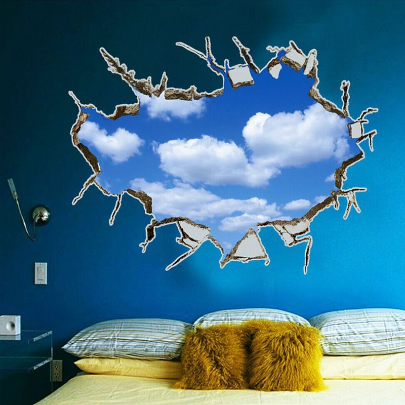 large 70 100cm 3d effect cloud vinyl wall decals for on wall stickers for living room id=31535