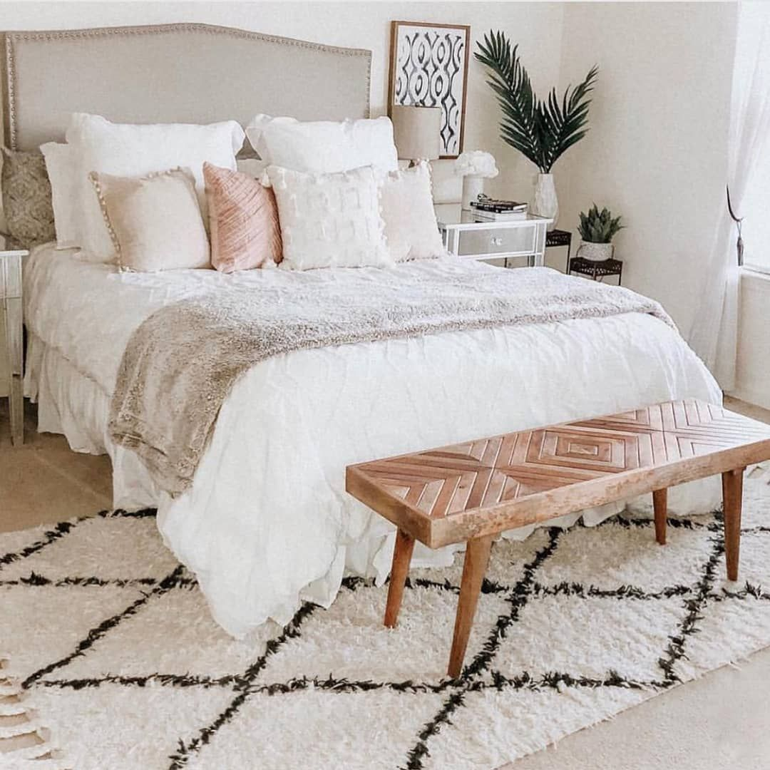 "23 Charming Beige Living Room Design Ideas To Brighten Up: RugsUSA.com On Instagram: ""Brighten Up Your Master Bedroom"