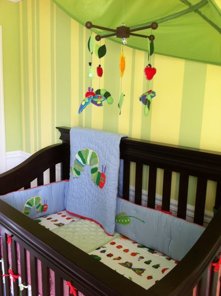 Eric Carle Very Hungry Caterpillar Nursery Pottery Barn Bedding Mobile From Etsy Ikea Leaf
