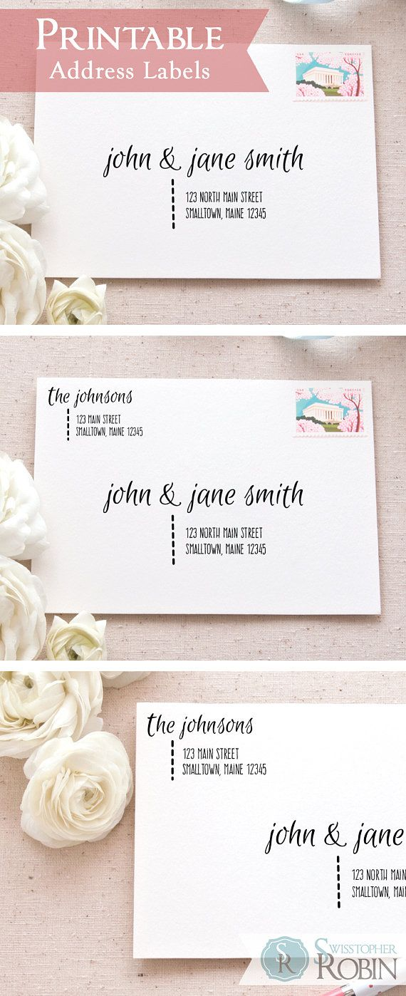 graphic regarding Printable Labels for Wedding Invitations named Relaxed Calligraphy Protect Label Deal Printable Mailing