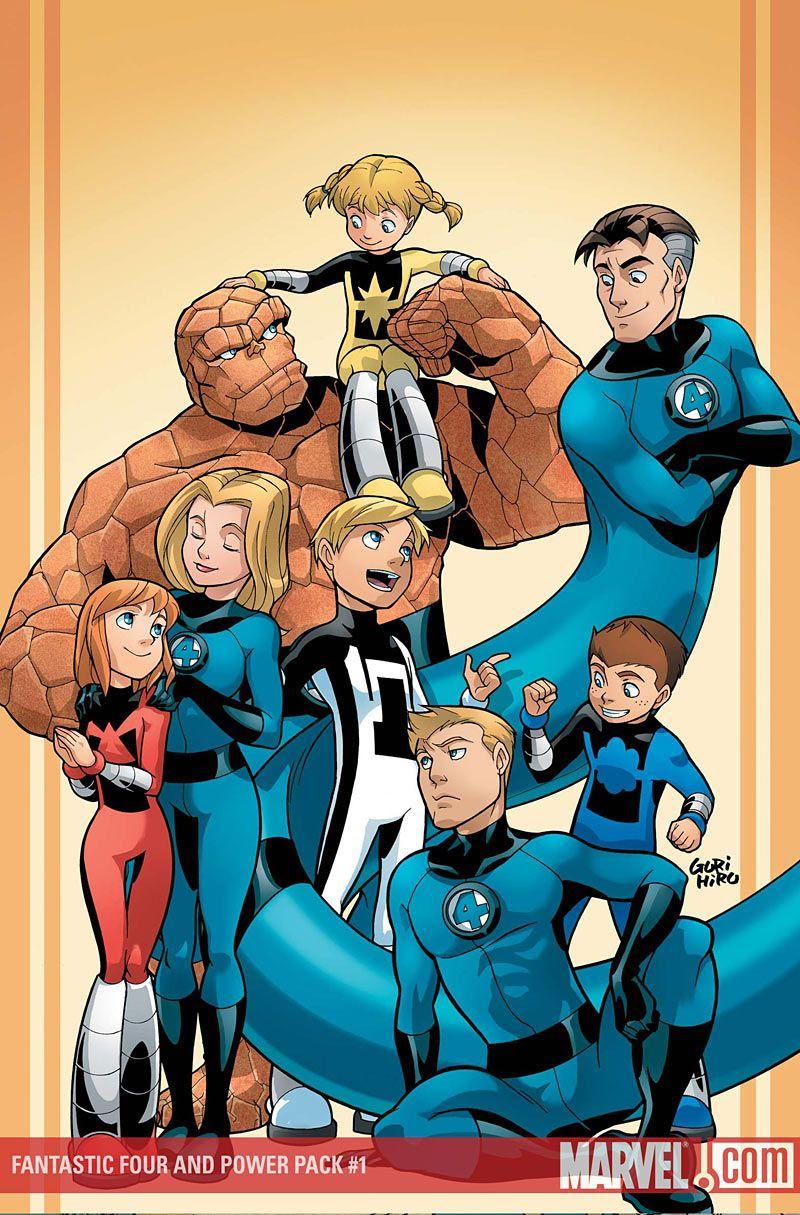 Fantastic Four And Power Pack 1 Fantastic Four Marvel Comics Art Comics