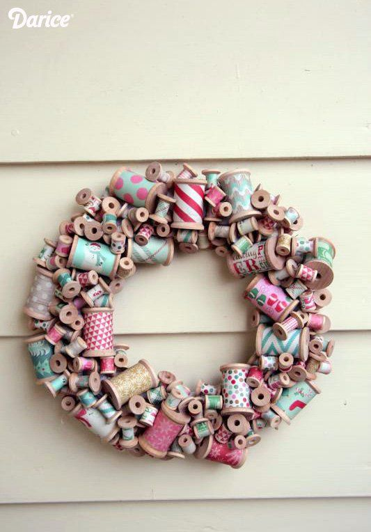 Photo of How-To: Wooden Thread Spool Wreath | Make: