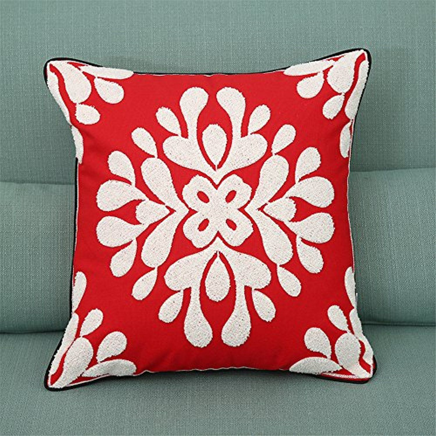Soft square pillowcases christmas snowflake theme home decorative